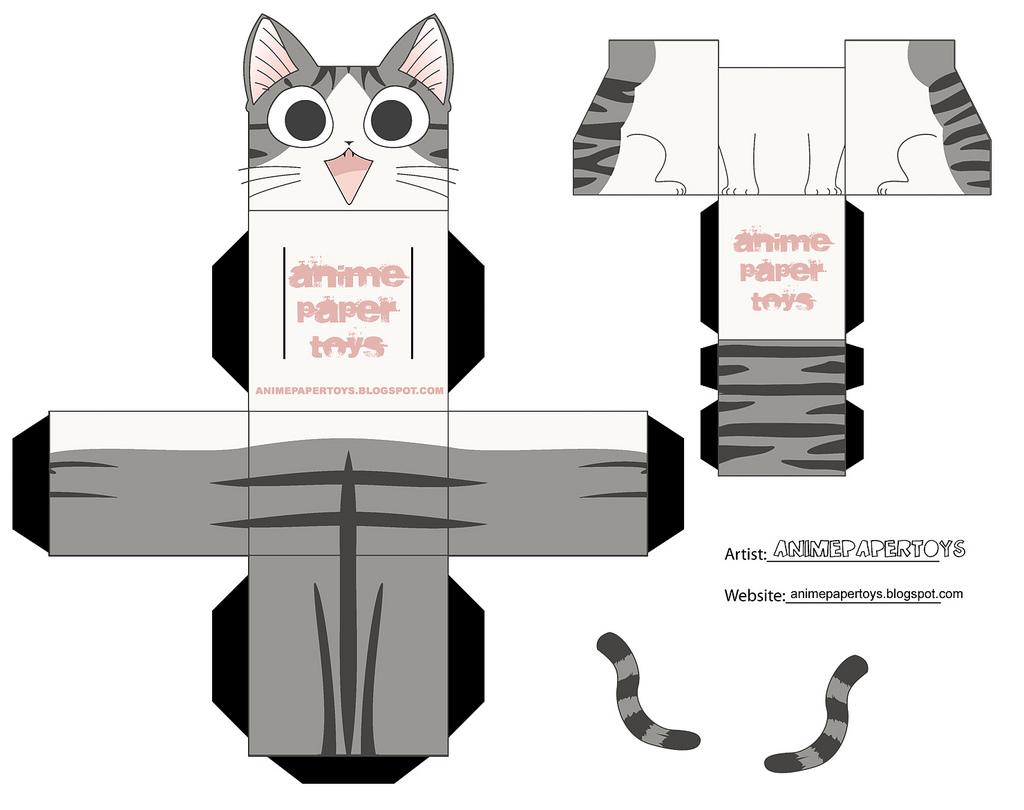 Аниме фигурки из бумаги своими руками схемы шаблоны